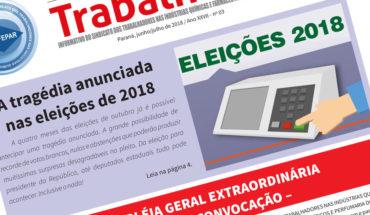 Jornal Tribuna do Trabalhador - edição Julho 2018